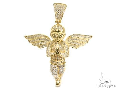 Angel Sterling Silver Pendant 42886 Metal
