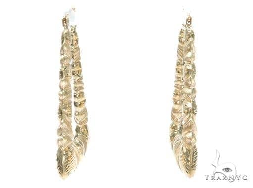 10k Yellow Hoop Earrings 42960 Style