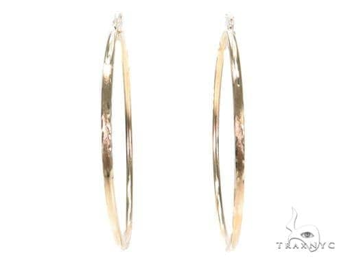 10k Yellow Hoop Earrings 42966 Style