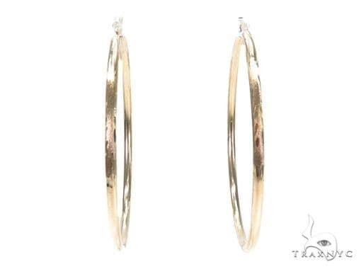 10k Yellow Hoop Earrings 42968 Style