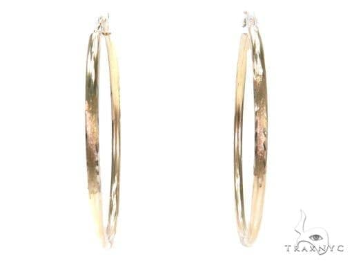 10k Yellow Hoop Earrings 42970 Style