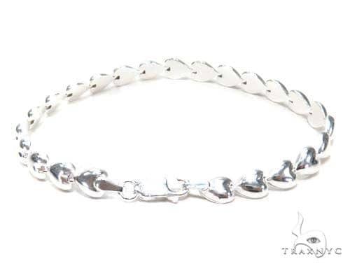 Heart Silver Bracelet 43029 Silver & Stainless Steel