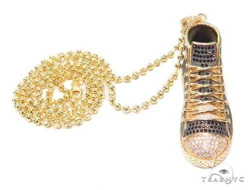 Sneakers Silver Pendant 43131 Metal
