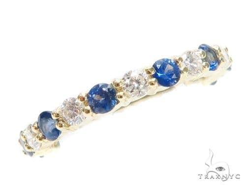 Blue Sapphire Diamond Ring 43118 Anniversary/Fashion