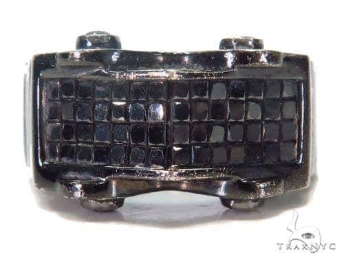 Invisible Black Diamond Ring 43651 Stone