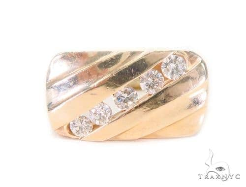 Channel Diamond Pinky Ring 43660 Style
