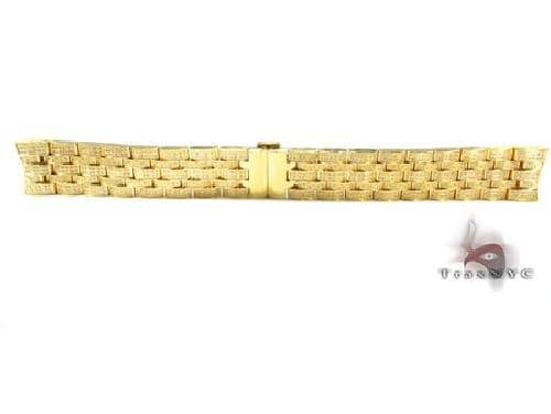 Joe Rodeo Yellow Stainless Steel Band 22mm Fully Iced 43338 Watch Accessories