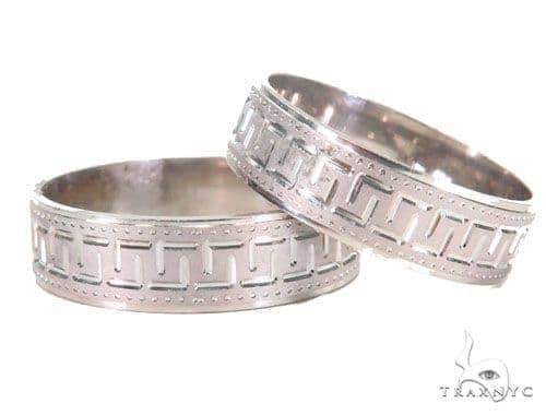 Couple Ring Set  for Engagement in 14K White Gold Engagement