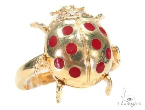 Ladybug Gold Ring Anniversary/Fashion