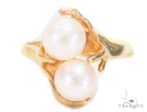 Pearl Gold Ring 43692 Anniversary/Fashion
