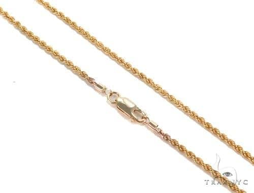 Rope Gold Chain 24 Inches 2mm 2.64  Grams 43592 Gold