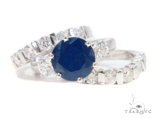 Three Piece Sapphire Engagement Ring 44160 Engagement