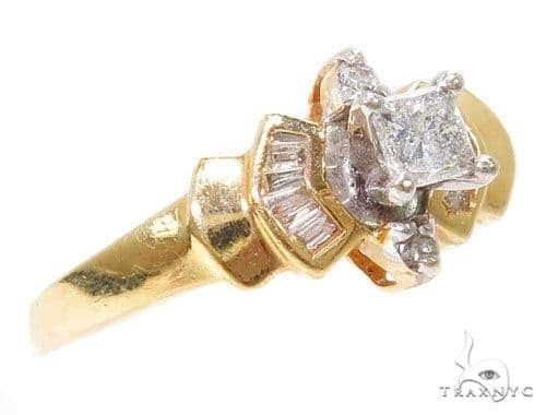 14k Yellow Gold Prong Womens Wedding Diamond Ring-40045 Engagement