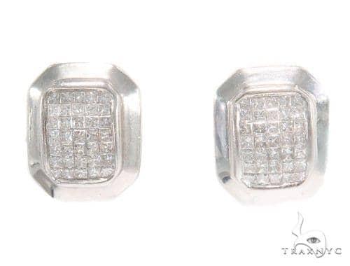 Invisible Diamond Hoop Earrings 43853 10k, 14k, 18k Gold Earrings