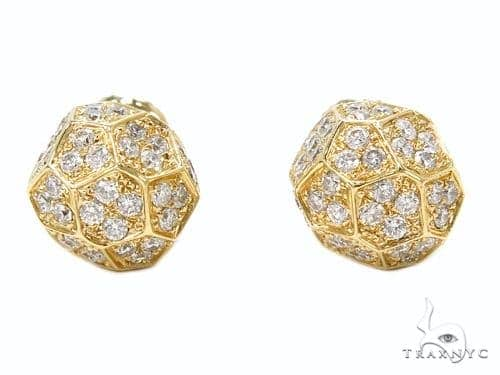 Prong Diamond Earrings 40513 Stone