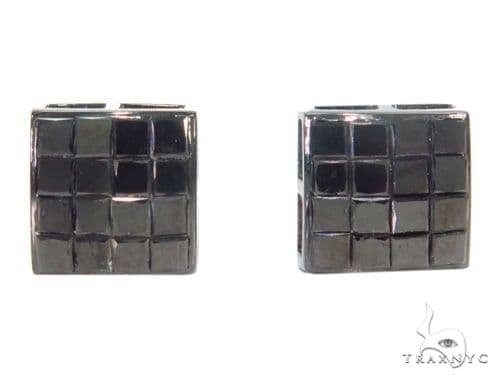 Invisible Black Diamond Earrings 43890 Style