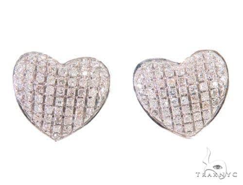 Heart Diamond Earrings 43895 10k, 14k, 18k Gold Earrings