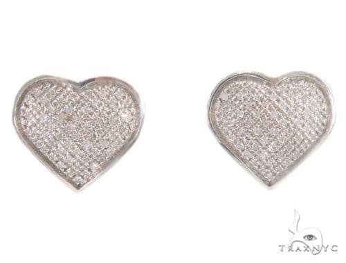Heart Diamond Earrings 43897 10k, 14k, 18k Gold Earrings