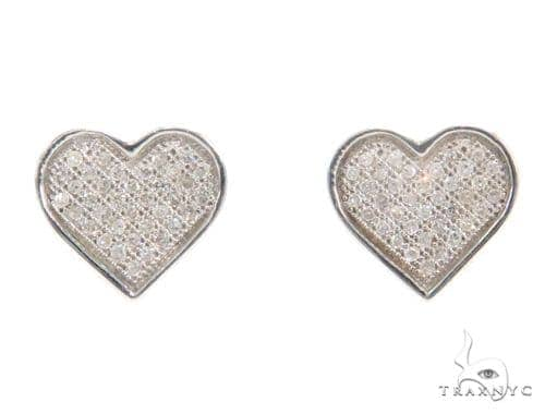 Heart Diamond Earrings 43899 10k, 14k, 18k Gold Earrings
