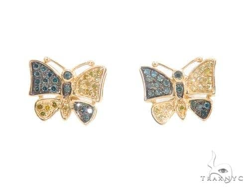 Butterfly Diamond Earrings 43906 10k, 14k, 18k Gold Earrings
