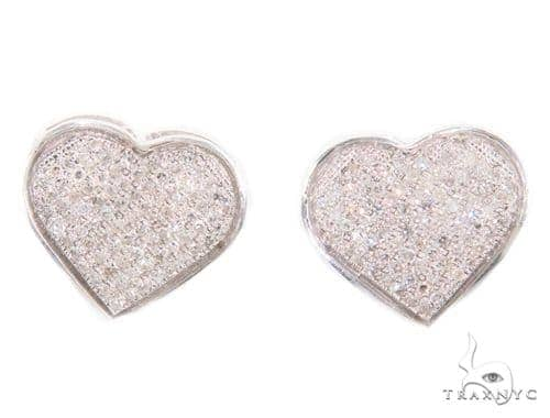 Heart Diamond Earrings 43907 10k, 14k, 18k Gold Earrings