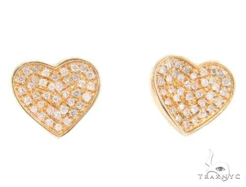 Heart Diamond Earrings 43908 10k, 14k, 18k Gold Earrings