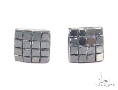 Invisible Black Diamond Earrings 43920 Style