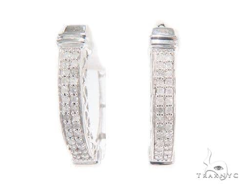 Prong Diamond Hoop Earrings 43923 Style