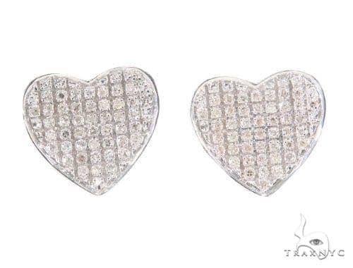 Heart Diamond Earrings 43896 10k, 14k, 18k Gold Earrings