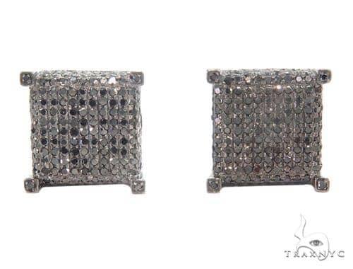 Prong Black Diamond Cube Earrings 43911 Style
