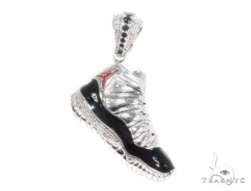 Prong Diamond Sneaker Pendant 44170 Metal