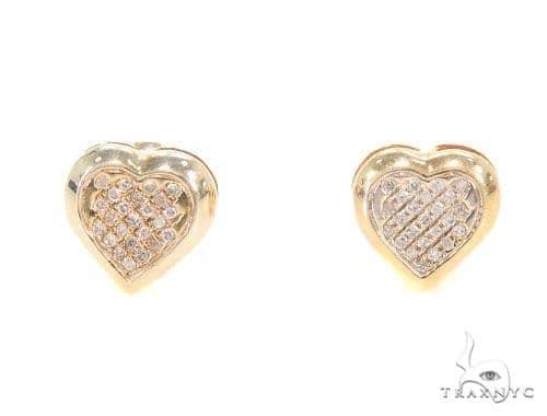 Heart Diamond Earrings 43958 10k, 14k, 18k Gold Earrings