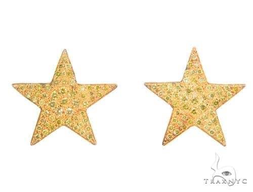 Canary Star Prong Diamond Earrings 43965 Style