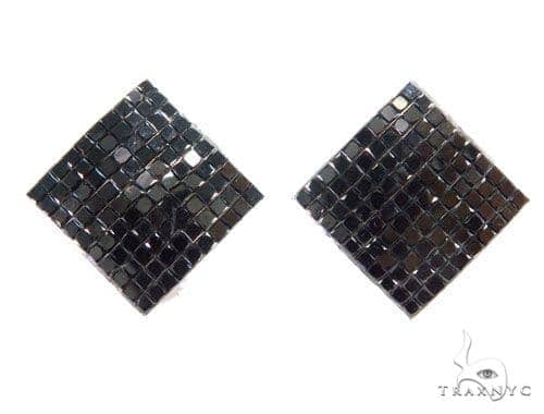 Invisible Black Diamond Earrings 43970 Style