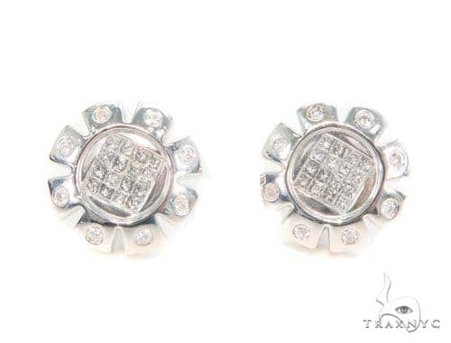 Invisible Diamond Earrings 43974 10k, 14k, 18k Gold Earrings