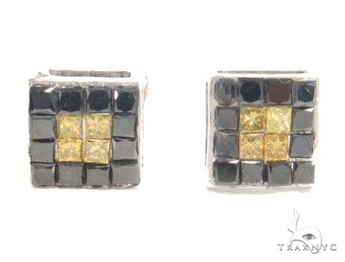 Invisible Diamond Square Earrings 43982 Style