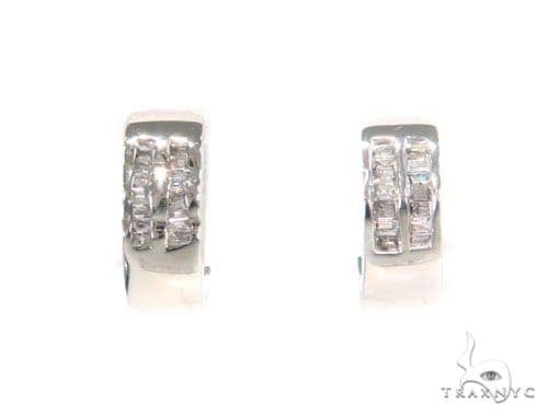 Channel Diamond Hoop Earrings 43985 10k, 14k, 18k Gold Earrings
