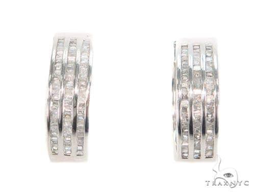 Channel Diamond Hoop Earrings 43993 10k, 14k, 18k Gold Earrings
