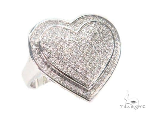 Heart Diamond Ring 43670 Anniversary/Fashion