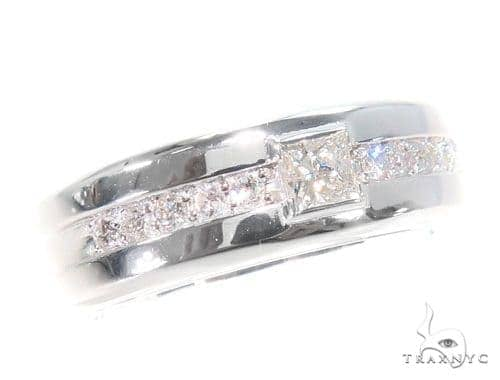 Prong Diamond Wedding Band 43567 Style
