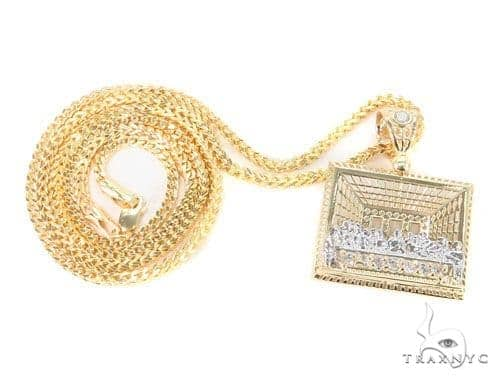 10k Yellow Gold Pendant  Franco Chain Set 44230 Metal