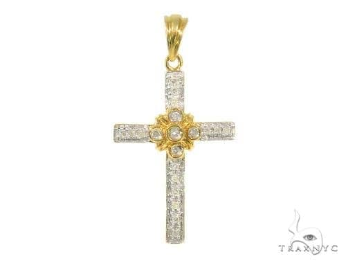 Prong Diamond Holiday special Silver Cross Crucifix 44313 Silver
