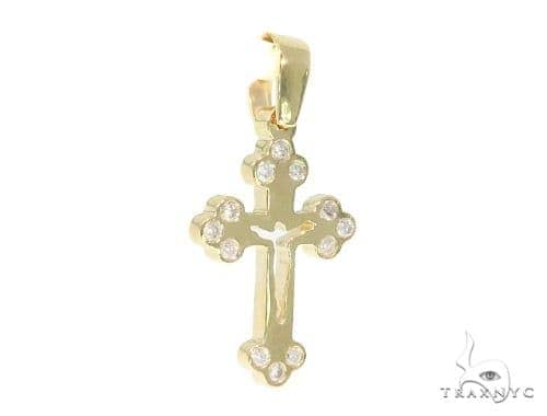 Bezel Diamond Cross Crucifix 44312 Diamond