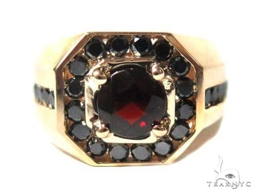 Mens Godfather Garnet Ring 44311 Stone
