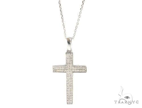 Prong Diamond Cross Crucifix Necklace 44309 Diamond Cross Pendants