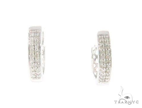 Prong Diamond Hoop Earrings 44321 Style