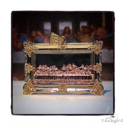 10k Three Tone Gold Last Supper Rope  Chain Set 44367 Metal