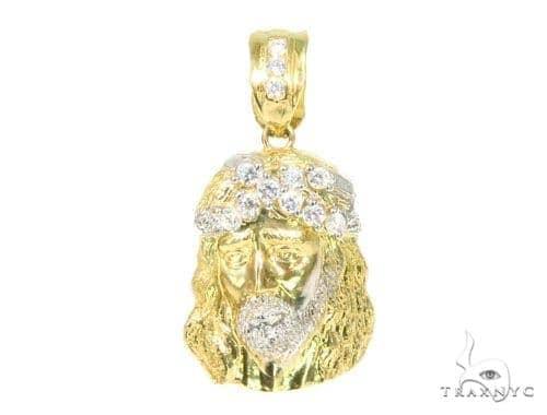 10k Yellow Gold Jesus Pendant 44476 Style