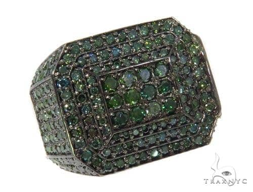 Prong Green Diamond Ring 44535 Stone