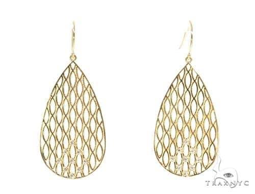 Bezel Diamond Earrings 44534 Stone